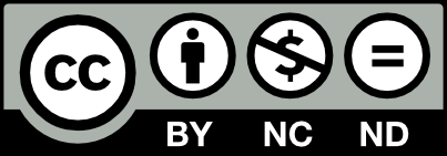 Licenca CC BY-NC-ND ikona